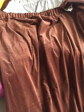 "Pair Vintage Velvet Curtains Chocolate Brown Size   93"" Drop 66"" Wide Each"