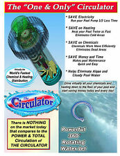 The Circulator pool water circulator package of 4 with economizers and fountain