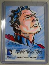 DC COMICS THE NEW 52 SUPERMAN HAND DRAWN ARTIST SKETCH CARD BY DAVE POPS TATA