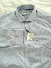 NWT CALVIN KLEIN Steel Slim Fit Non Iron Men's Long Sleeve Dress Shirt Sz 17 1/2