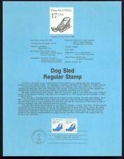 #2135 17c Dog Sled Coil USPS #8621 Souvenir Page
