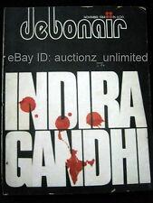 Debonair Nov 1984 India Indira Gandhi M R Pai Nao Chomsky NUDE Women Erotic Pics