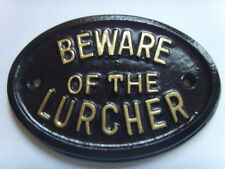 BEWARE LURCHER  HOUSE SIGN KENNEL GARAGE PLAQUE