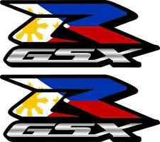 2 Custom Phillippine Flag GSXR Decals Stickers 600 750 1000 hayabusa 1300