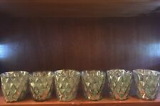 Set of 6 Antique Style Candle Votives, Used