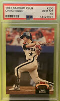 1992 Topps Stadium Club Craig Biggio PSA 10 HOF Houston Astros