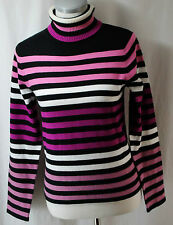 Crystal Kobe, Small, Striped Turtleneck Sweater, New without Tags