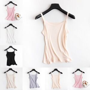 Women's 50% Silk Basic Camisole Top Vest Shirt Sleepwear Spaghetti Strap SG308
