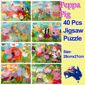 1x Cute Pig Family New Style Drawing 40 Pcs Jigsaw Puzzles Best Gifts for Kids