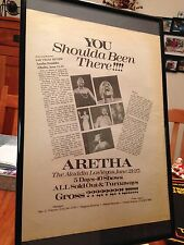 "Big 11X17 Framed Aretha Franklin ""Live @ The Aladdin Las Vegas"" Concert Promo Ad"