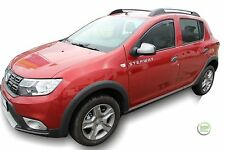 DACIA SANDERO STEPWAY mk2  2012-up SET OF FRONT WIND DEFLECTORS HEKO TINTED 2pc