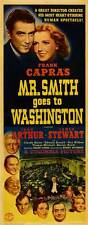 FRANK CAPRA'S MR. SMITH GOES TO WASHINGTON Movie POSTER 14x36 Insert Jean Arthur