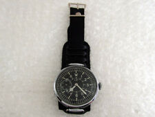 LIP Laco Aviator Big Navigation Luftwaffe Pilots WWII Vintage France Wrist Watch