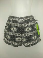 Sam Edelman Black White Silver Metallic Prairie Dreamer New Pleated Shorts Sz 0