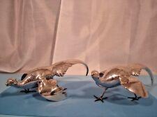 """Vintage Silver Plate Weidlich Bros #2281 American Art Metal Pheasants """"As Is"""""""