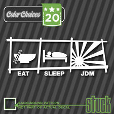 "Eat Sleep JDM - 8"" x 3.1"" - Decal Sticker Vinyl Import Tuner Boost Turbo Drag"
