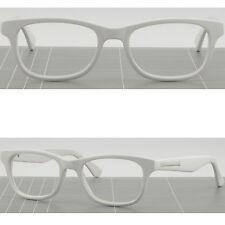 Square Men's Women's Plastic Acetate Frame Prescription Glasses Sunglasses White