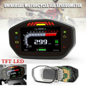 1×Universal TFT LED Speedometer LCD Digital Odometer For 2.4 Cylinder Motorcycle