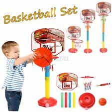 Adjustable Kid Basketball Backboard Stand Hoop Outdoor Net Children Goal System