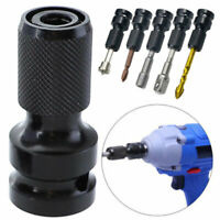 1/2inch Drive to 1/4inch Socket Adapter Hex Drill Chuck Change For Impact Wrench
