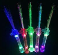 Unicorn Light Up Wands LED Unicorn Fiber Optic Party Favors Children Gift 5 pks