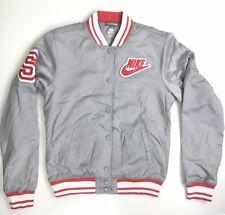 Nike Women's Thermal Insulation Medium Silver Baseball Jacket 381451 005