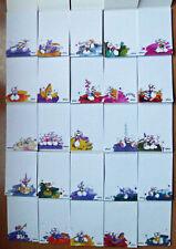 25 verschiedene Diddl Blockblätter DIN A6 (Set 1) - Nrn. 1-27 - weiße Raritäten