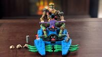 NECA TMNT Turtles In Time Rat King with Complete FootSki Vehicle!!!