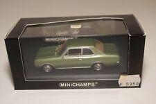 A2 1:43 MINICHAMPS OPEL REKORD C 2-DOOR 1966 METALLIC GREEN MINT BOXED RARE