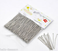 "1 Packet Well Sorted Silver Tone Head Pins 5cm(2"")"