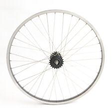 "26"" Rear Cruiser Bike Single Speed Wheel Aluminum Rim + Freewheels NEW"