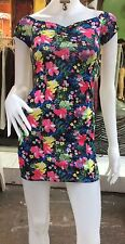 H &M Style Ladies  Floral Clubwear/Casual Bodycon Mini Dress Off Shoulder Uk  8