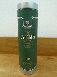 Glenfiddich Green Faux Leather Malt Whisky Tin Metal Carry Travel Picnic Case