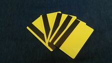 Pkg of 5 Blank Cr80, 30 mil LoCo, 3-track Mag-Stripe Card - Yellow