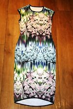 NEW! scuba pencil dress SIZE 8 stretch curve hem wedding occasion party unusual!