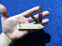 Vintage Pocket Knife Camillus Large Equal End Celluloid Pearl Excellent Knives