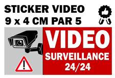 Autocollant sticker VIDEO - SURVEILLANCE PAR 5