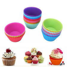 12 pcs Silicone Cupcake Holders Mold Muffin Baking Cup Mini Cake Liners Flower