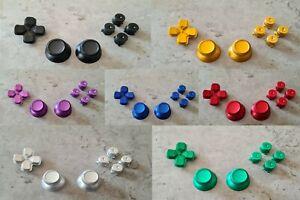 PS4 Controller Alu Bullet Buttons Thumbsticks Tasten Knöpfe Mod Set Ps5 Metall