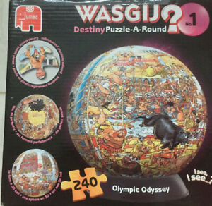 Wasgij Destiny 3D Puzzle-A-Round Jigsaw and Stand Olympic Odyssey (240 Pieces)…