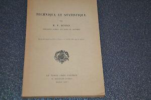 Technique et Statistique. François Divisia / H3