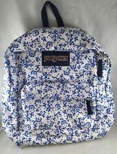 New JANSPORT Superbreak White Field Floral Laptop Tablet School Bag Backpack