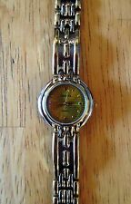 Women's GENEVA Classic Collection Quartz Gold & Silver Toned Gold Face Watch NEW
