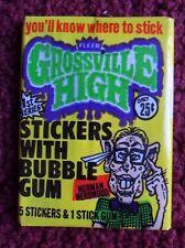 Unopened Pack 1986 Fleer Grossville High School Trading Cards Stickers Packs