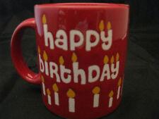 Happy Birthday w/ Candles on Red Mug 12oz Waechtersbach Germany New