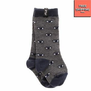 DANIELE ALESSANDRINI Long Everyday Socks Size 6M Eye Intarsia
