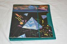 VINTAGE 1989 Mead Trapper Keeper 3 ring Flapper binder Pyramid PLANETS Retro EUC