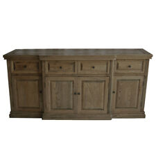 MOSAIC CLASSIC DARK OAK 4-DOOR 4-DRAWER SIDEBOARD/BUFFET FRENCH PROVINCIAL