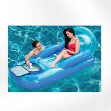 Confezione Poltrona Gonfiabile Azzurra Accessorio Per Piscina Spiaggia Mare