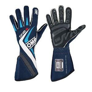 [20% OFF] OMP ONE-S Racing Gloves | FIA 8856-2000 Holomogation | IB/755E